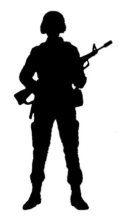 236x443 Patriotic Soldier Silhouette Vector Download Soldier Silhouette