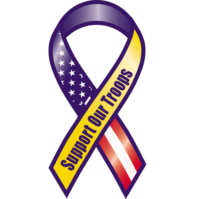 660x660 Support Our Troops Vector Ribbon