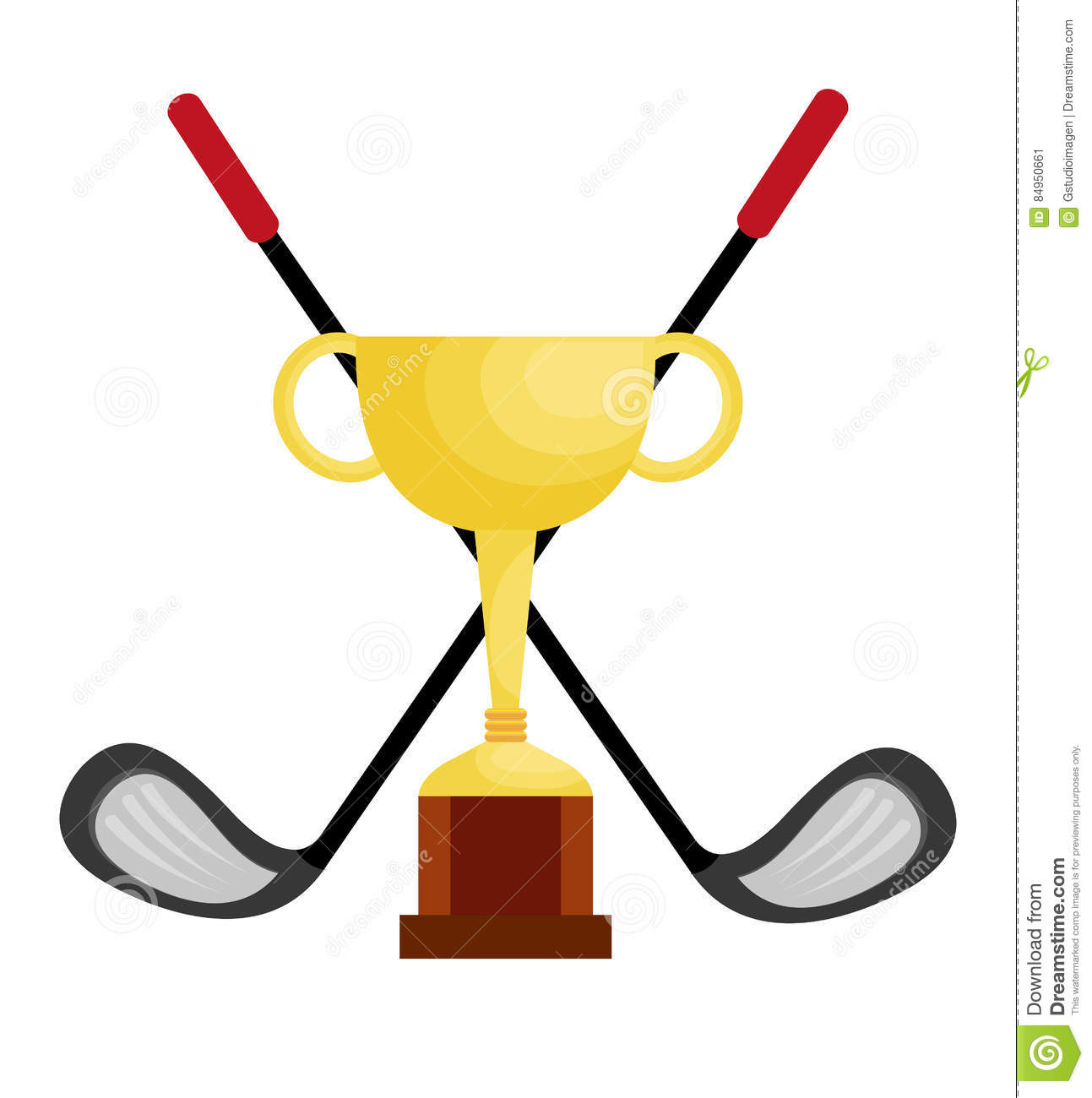 1293x1300 Trophy Clipart Golf Trophy