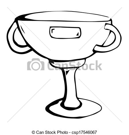 450x470 Trophy Clipart Black And White