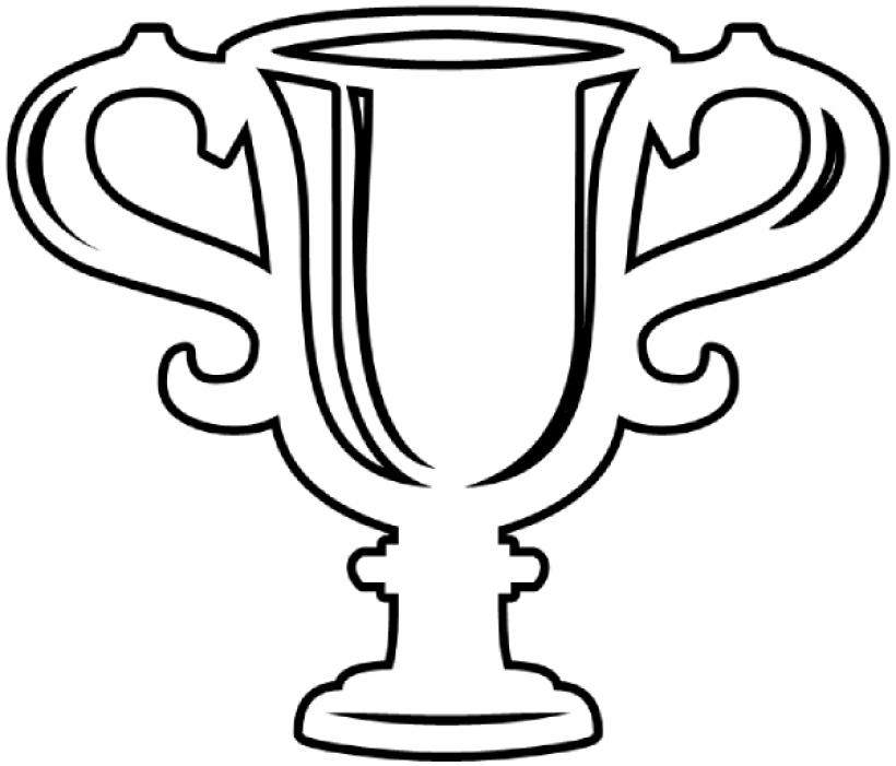820x701 Trophy Clipart Outline