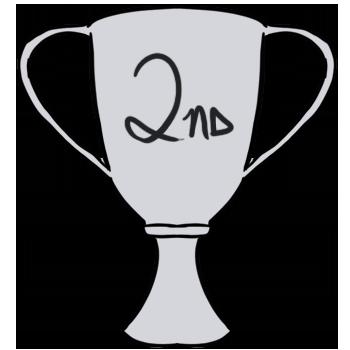 350x350 2nd Place Trophy Clipart