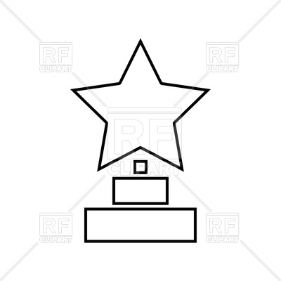400x400 Trophy Star Winner Award Black Icon Royalty Free Vector Clip Art