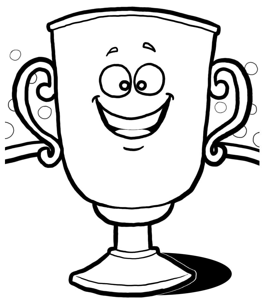 854x976 Trophy Clip Art Black White Images