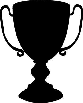 353x434 Black Clipart Trophy