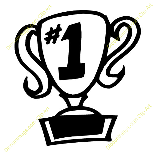 500x500 Trophy Clipart First Place