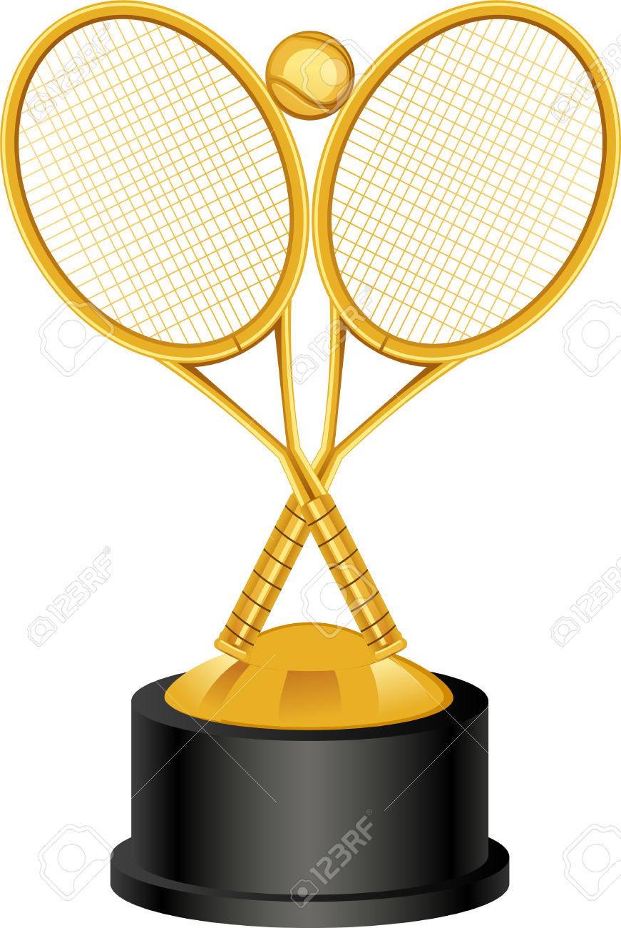 871x1300 Trophy Clipart Tennis Trophy