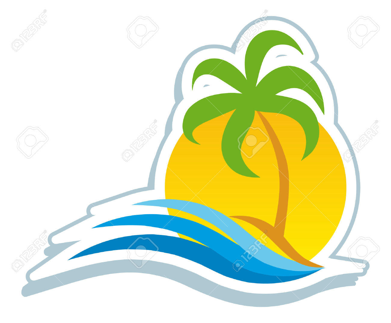 Tropical Beach Clipart | Free download on ClipArtMag