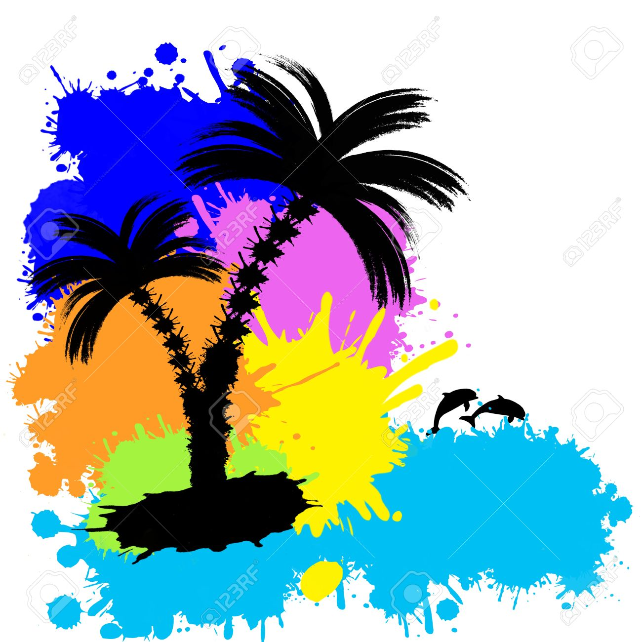 1300x1300 Tropical Clipart Tropical Background