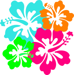 297x299 Hawaiian Flower Clip Art