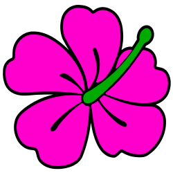 250x250 Pink Flower Clipart Tropical Flower