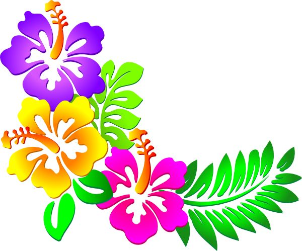 600x499 Polynesia Clipart Tropical Flower