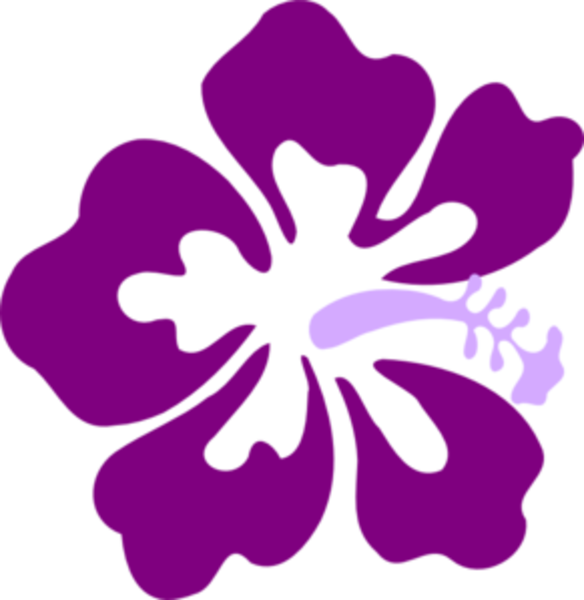 584x600 Purple Flower Clipart Tropical