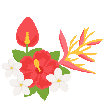 432x432 Tropical Flower Clip Art