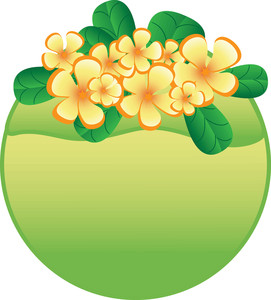 271x300 Tropical Flowers Clipart Image
