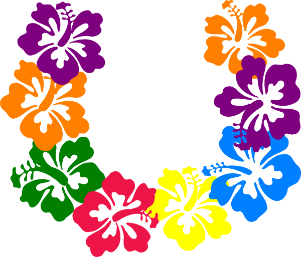 600x513 Tropical Clipart Lei Flower