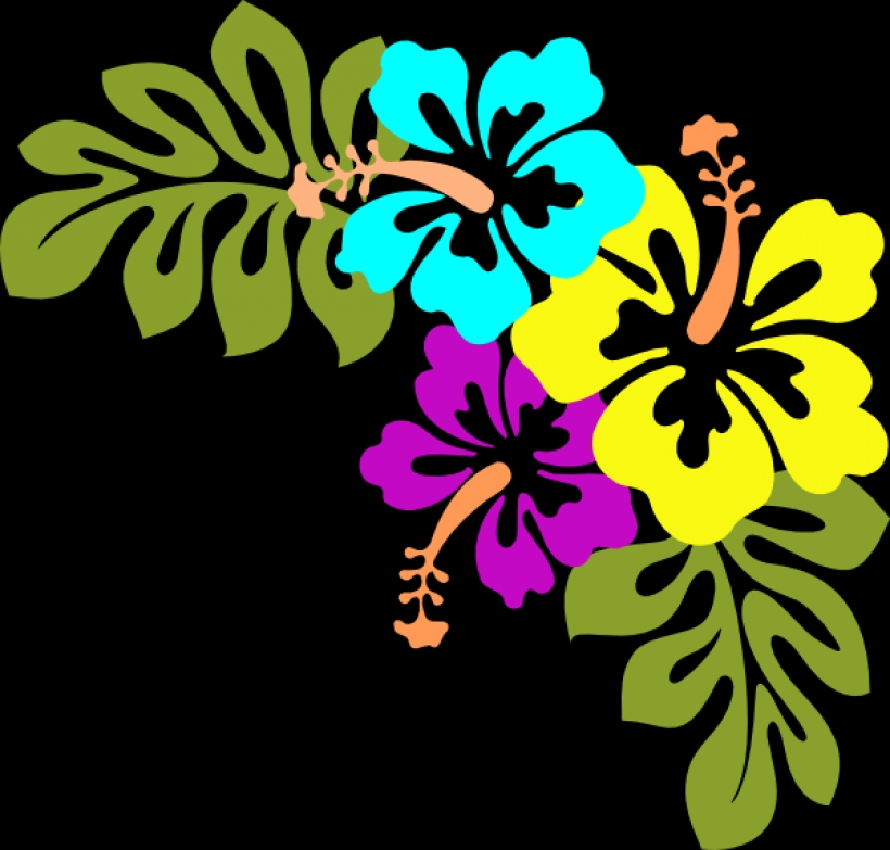820x783 Tropical Flowers Clip Art Clipart Best