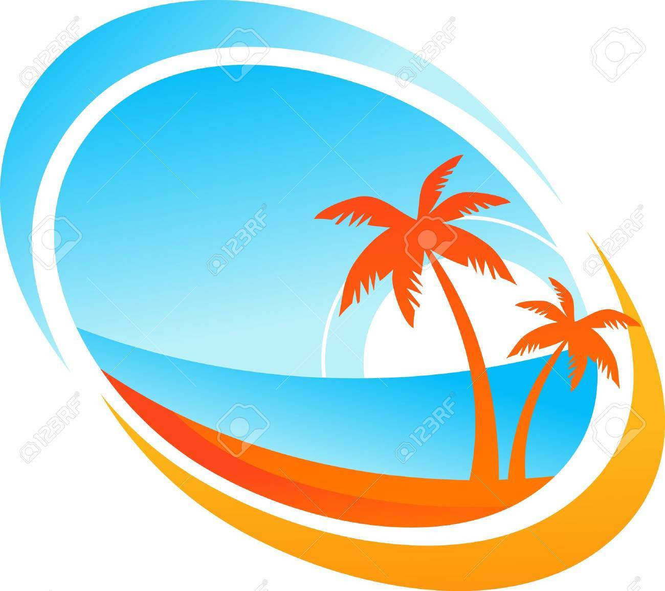 Tropical Island Clipart