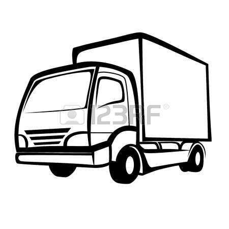 450x450 Delivery Van Clipart Black And White