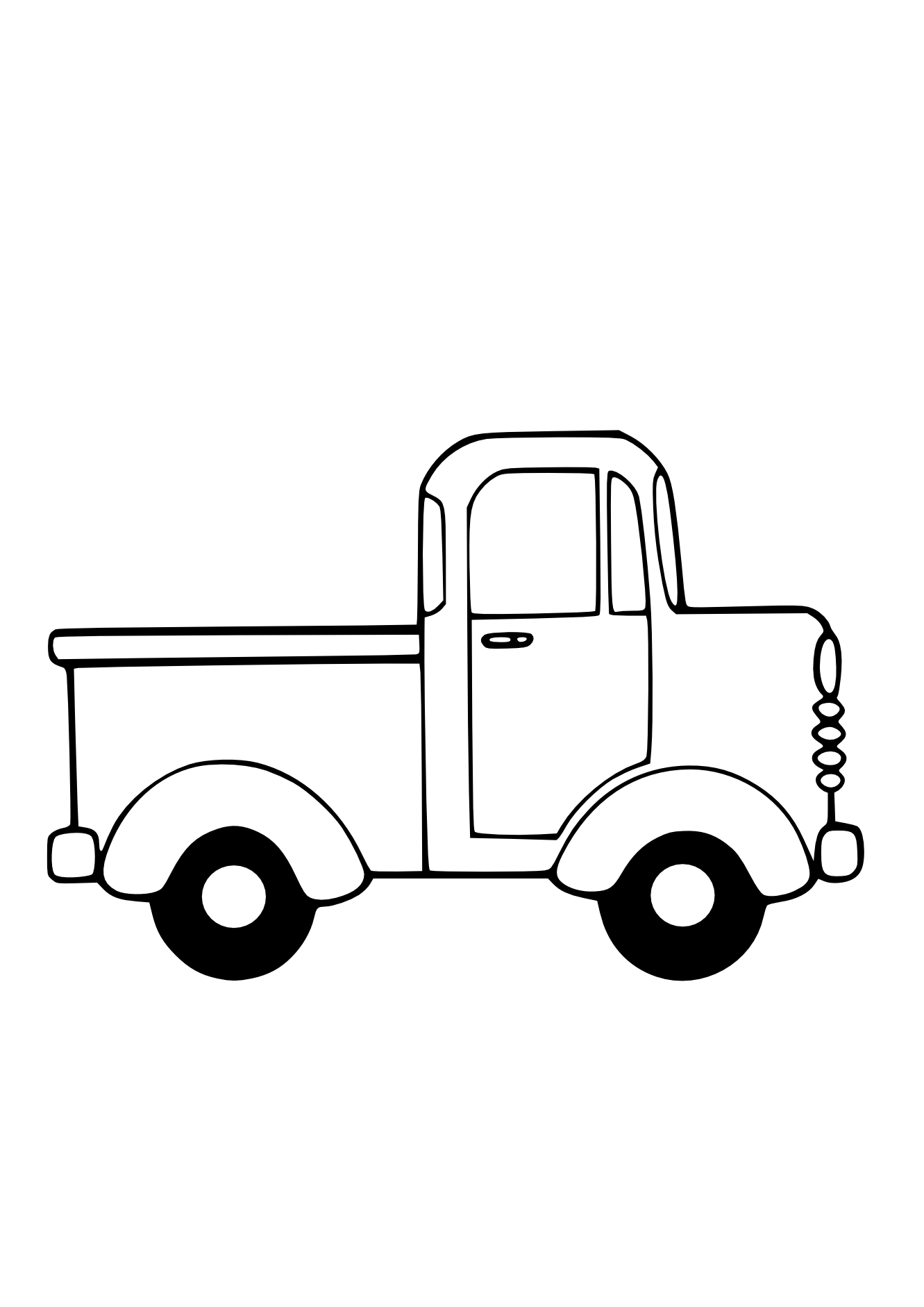 1331x1882 Semi Truck Clipart Black And White Free Clipart