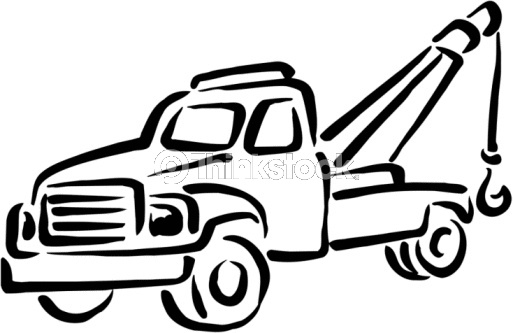 513x333 Simple Tow Truck Clipart
