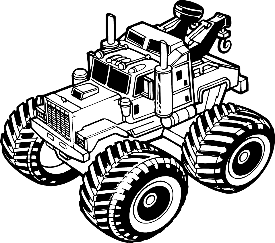 958x847 Tow Truck Outline Black And White Png Clipart