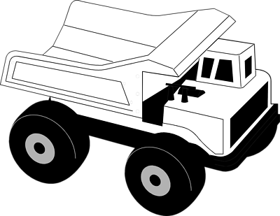 400x309 Truck Black And White Dump Truck Clipart Black And White Free 7