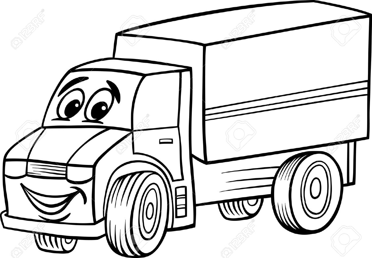 1300x901 White clipart lorry