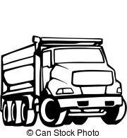 180x195 dump truck clipart black white