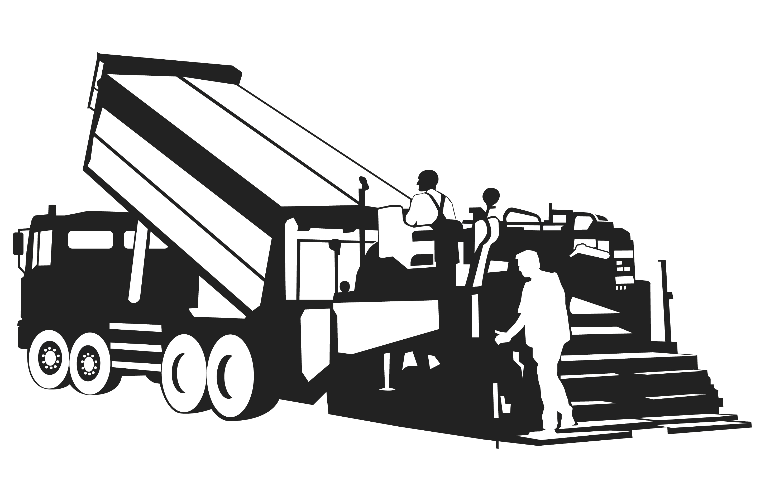 Truck Clipart Black And White