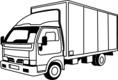 170x116 Free Black And White Transportation Outline Clipart