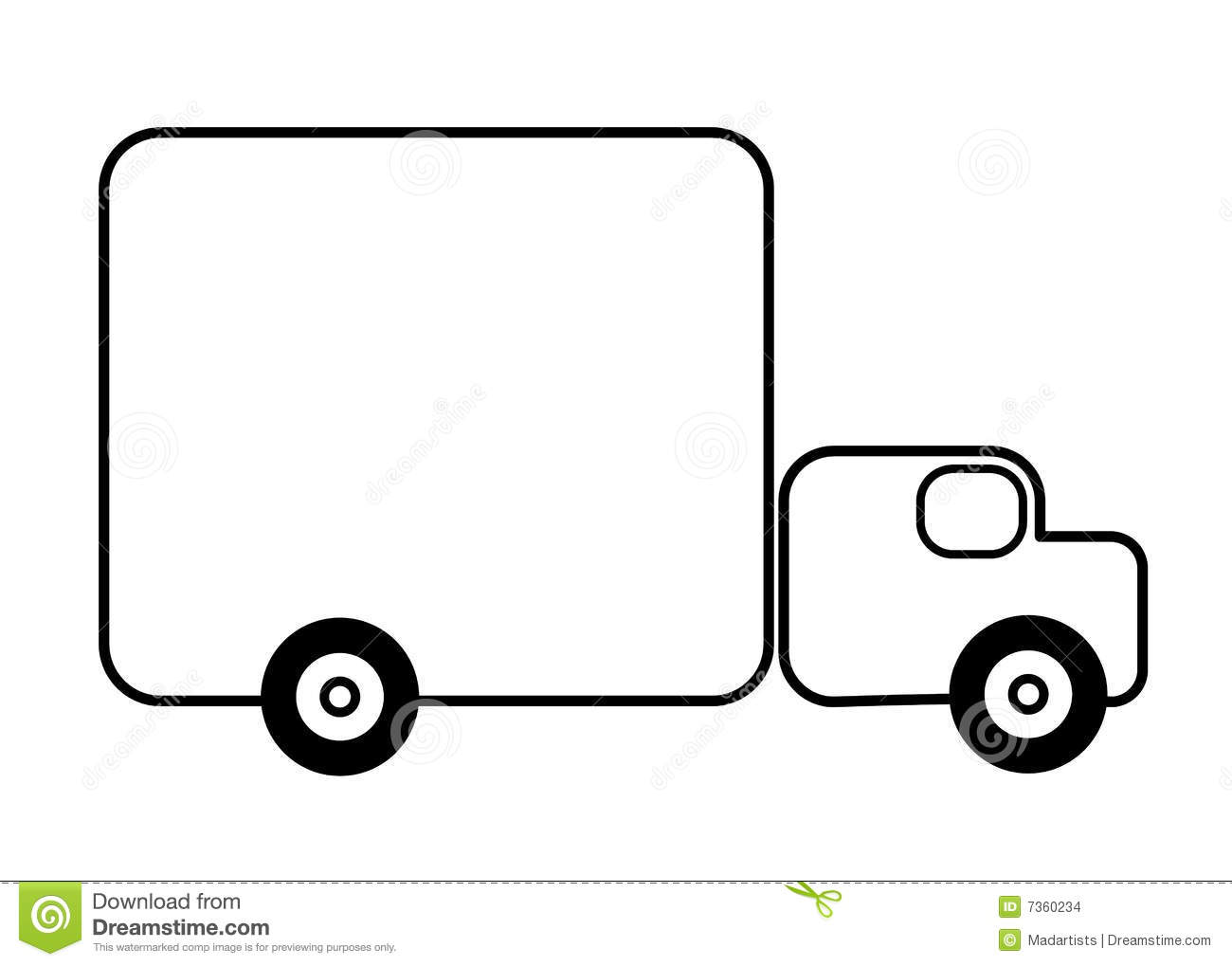 1300x1019 Truck Clipart Outline