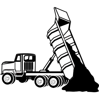 410x410 Excavator On Truck Clipart