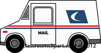 350x186 Mail Truck Clipart