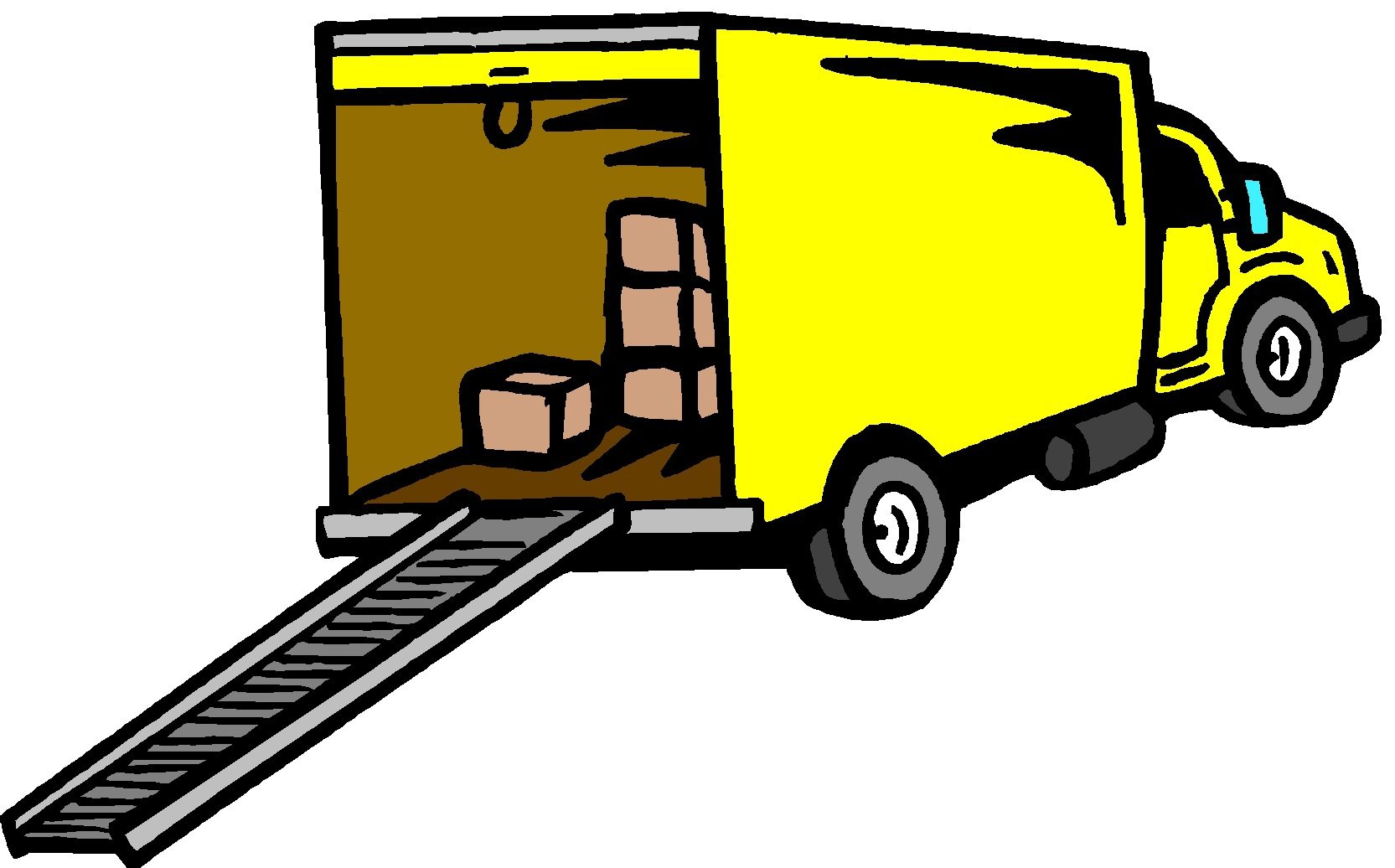 1665x1036 Moving Truck Clip Art