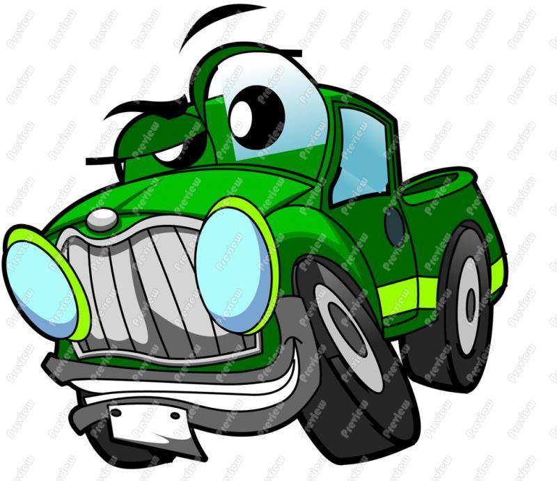 800x691 Pickup Truck Character Clip Art