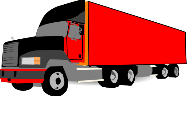 600x410 Truck 18 Wheeler Trucker Clip Art