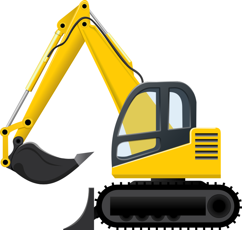 800x760 Excavator On Truck Clipart