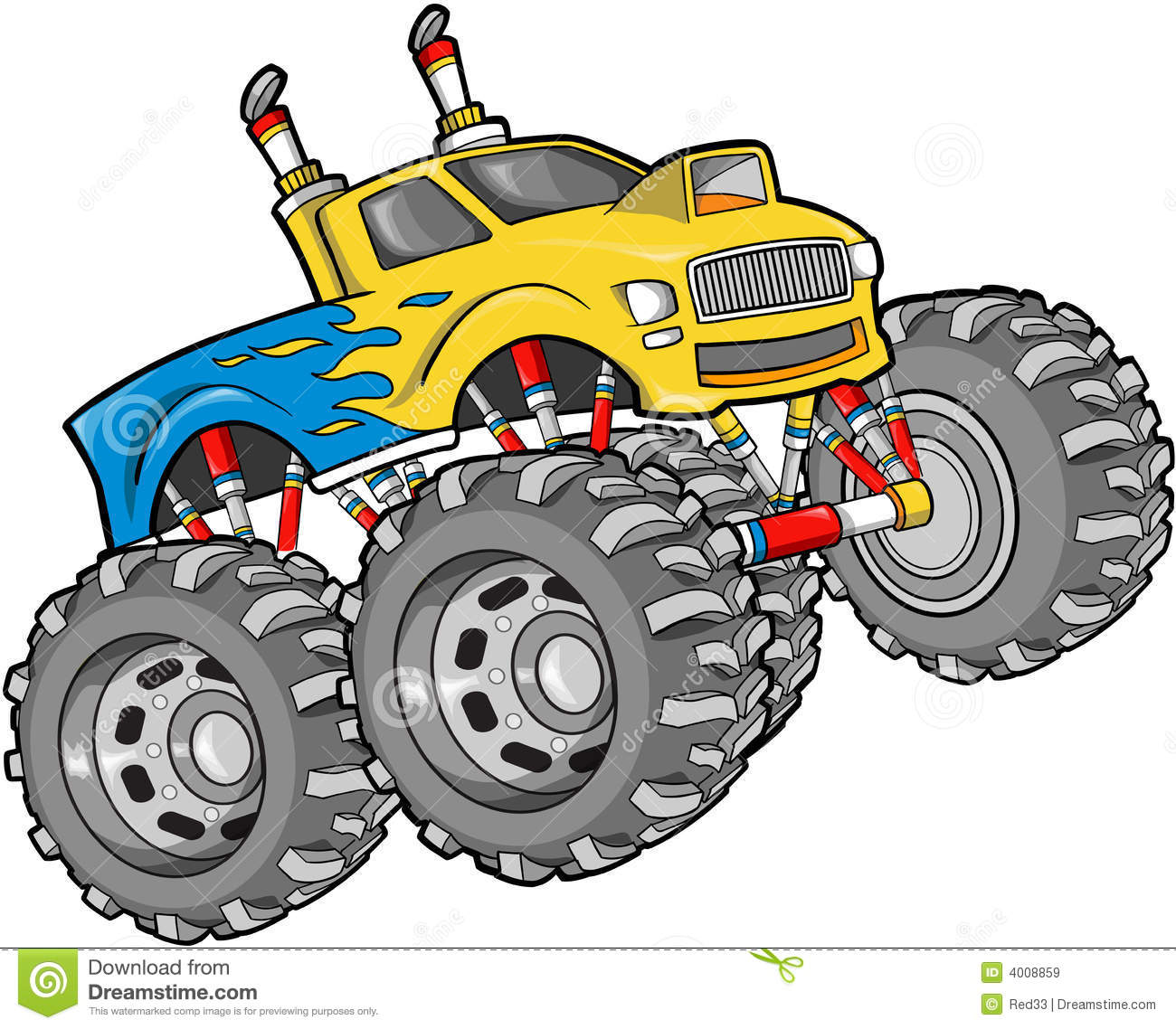 1300x1138 Free Monster Truck Clipart Images