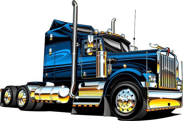 600x396 Kenworth Log Truck Clipart