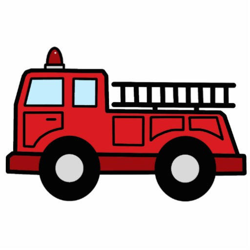 512x512 Cartoon Clip Art Firetruck Emergency Vehicle Truck Acrylic Cut