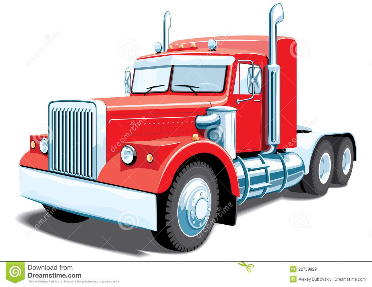 1300x1003 Red Clipart Semi Truck