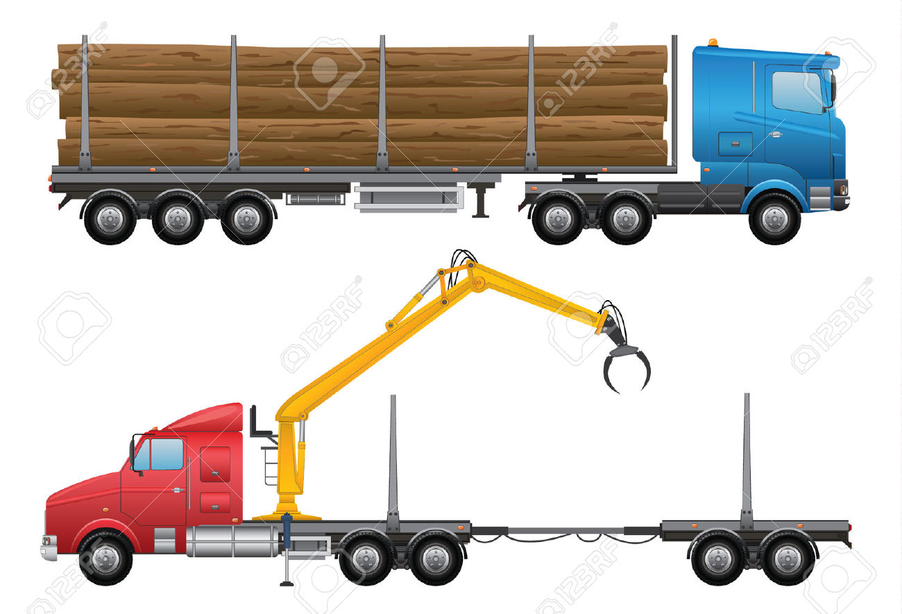 1300x886 Timber Clipart Logging Truck