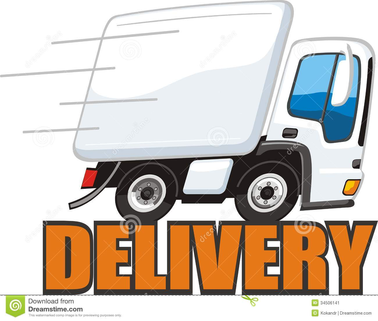 1300x1103 Delivery Truck Clipart