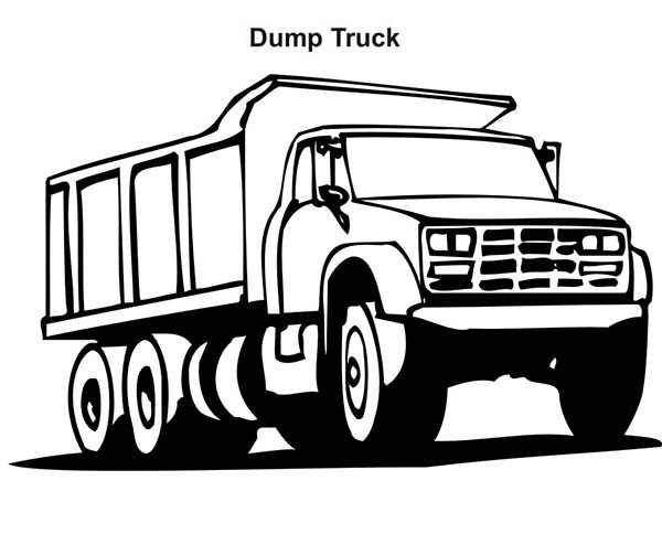 600x484 Dump Truck Coloring Pages To Print