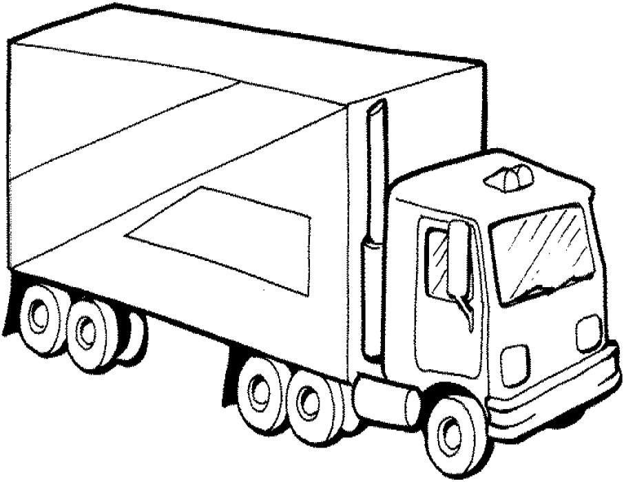906x700 Fancy Semi Truck Coloring Pages 74 On For Kids