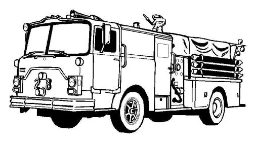 500x280 Fire Truck Coloring Pages Awesome Free Printable Fire Truck