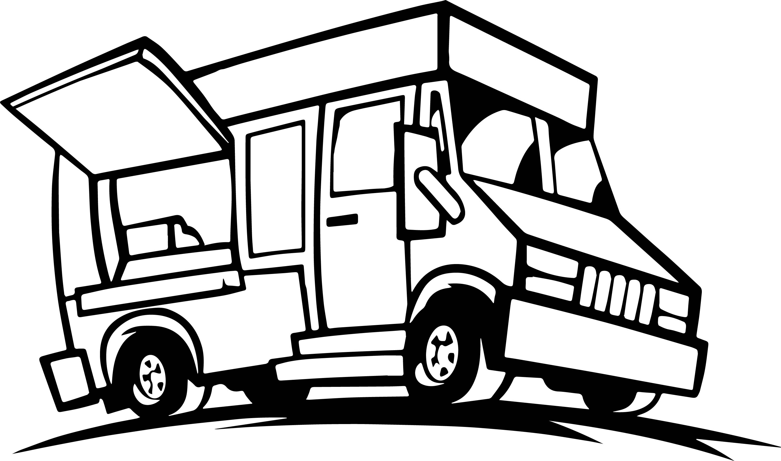 2999x1772 Food Truck Coloring Page Wecoloringpage