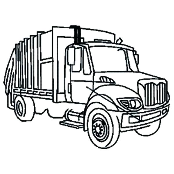 600x600 Garbage Truck Coloring Pages City Garbage Truck On Dump Truck