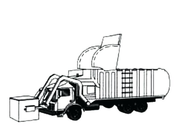 600x445 Garbage Truck Coloring Pages Drawing Garbage Truck Coloring Pages